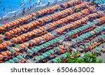 positano beach  amalfi coast ... | Shutterstock . vector #650663002