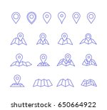 vector pins and maps. make your ... | Shutterstock .eps vector #650664922