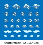 smoke and cloud flat icons for... | Shutterstock .eps vector #650664928