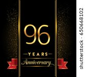 ninety six years anniversary... | Shutterstock .eps vector #650668102