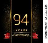 ninety four years anniversary... | Shutterstock .eps vector #650668135