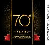 seventy years anniversary... | Shutterstock .eps vector #650668162