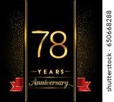 seventy eight years anniversary ... | Shutterstock .eps vector #650668288