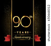 ninety years anniversary... | Shutterstock .eps vector #650668312