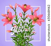 happy mothers day. greeting... | Shutterstock . vector #650668462