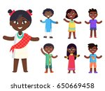 cartoon afro american girl in... | Shutterstock .eps vector #650669458