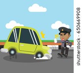 african police stopping car | Shutterstock .eps vector #650669908