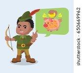 african robin hood telling to... | Shutterstock .eps vector #650669962