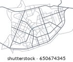 abstract city map. line scheme... | Shutterstock .eps vector #650674345