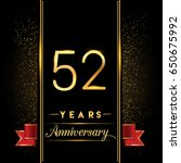 fifty two years anniversary... | Shutterstock .eps vector #650675992