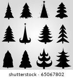 set of christmas trees   Shutterstock .eps vector #65067802