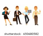 business people group of four... | Shutterstock .eps vector #650680582