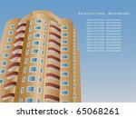 color architectural background | Shutterstock .eps vector #65068261