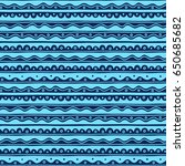 vector greek wave and meander... | Shutterstock .eps vector #650685682