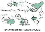 mental health care sketch... | Shutterstock . vector #650689222