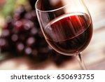 italian red wine tasting and... | Shutterstock . vector #650693755
