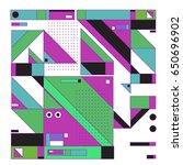 trendy geometric elements... | Shutterstock .eps vector #650696902