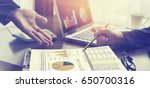 teamwork brainstorming business.... | Shutterstock . vector #650700316