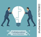 collaboration concept.... | Shutterstock .eps vector #650700802