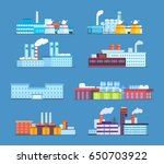 set of industrial and factory... | Shutterstock .eps vector #650703922