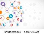 social media vector background. ... | Shutterstock .eps vector #650706625