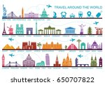 icon architectural monuments... | Shutterstock .eps vector #650707822