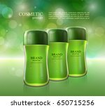 cosmetic ads poster.... | Shutterstock .eps vector #650715256