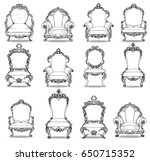 vintage baroque luxury style... | Shutterstock .eps vector #650715352
