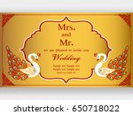 invitation cards and wedding... | Shutterstock .eps vector #650718022