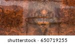 lacquered wood background ... | Shutterstock . vector #650719255