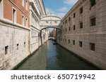 Romantic view of the famous bridge of sighs, Venice Italy