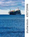 modern grey container ship