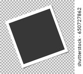 set of photo frame with shadow... | Shutterstock .eps vector #650727862