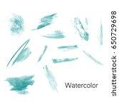 watercolor splashes. set of... | Shutterstock .eps vector #650729698