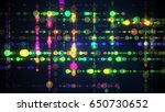 colorful circle dots. computer... | Shutterstock . vector #650730652