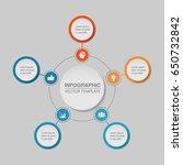 vector infographic template  5...   Shutterstock .eps vector #650732842