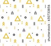 geometric elements flat pattern | Shutterstock .eps vector #650733856