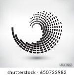 abstract logo design.vector... | Shutterstock .eps vector #650733982