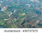 green terrian aerial view in... | Shutterstock . vector #650737375
