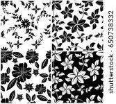 vector seamless pattern flowers ... | Shutterstock .eps vector #650738332