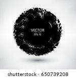 grunge circles round frames....   Shutterstock .eps vector #650739208