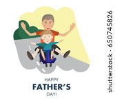 vector illustration of dad and... | Shutterstock .eps vector #650745826