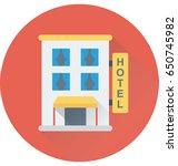 hotel vector icon   Shutterstock .eps vector #650745982