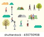 autumn season background.... | Shutterstock .eps vector #650750908