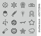 set of 16 star outline icons... | Shutterstock .eps vector #650752846