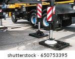 hydraulics crane support....   Shutterstock . vector #650753395