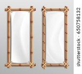 bamboo frame template vector.... | Shutterstock .eps vector #650758132