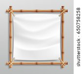 bamboo frame with realistic...   Shutterstock .eps vector #650758258