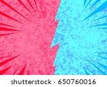 bright pop art comic style...   Shutterstock .eps vector #650760016