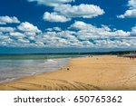 Small photo of Omaha Beach, France - September 9, 2016: Omaha Beach was the code name for one of the five sectors of the Allied invasion of German-occupied France in the Normandy landings on 6 June 1944, during WWII
